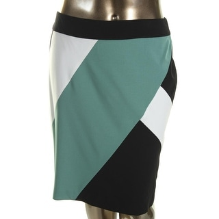 Nine West Womens Colorblock Lined Pencil Skirt - 16