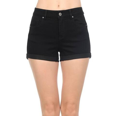 NioBe Clothing Womens Juniors High Rise Body Shaping Denim Shorts