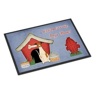 Carolines Treasures BB2853MAT Dog House Collection Whippet Indoor or Outdoor Mat 18 x 0.25 x 27 in.