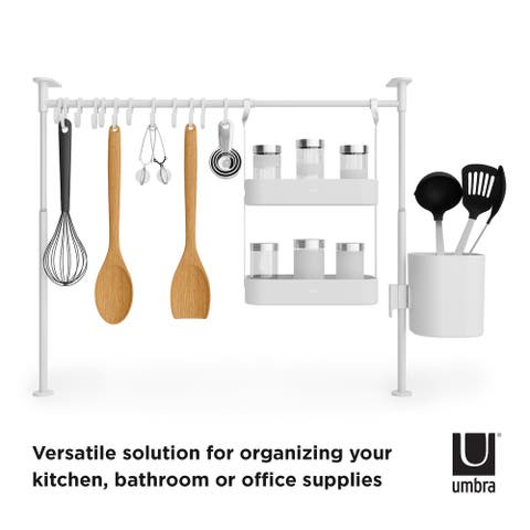 Umbra ANYWHERE Kitchen Tension Rod with Caddy and Trays