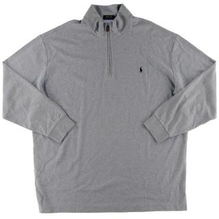 Polo Ralph Lauren Mens Big & Tall Pullover Sweater Heathered Half-Zip - 3lt