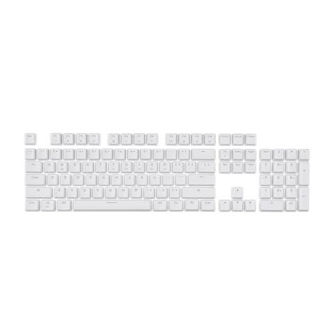 Monoprice Double Shot Keycaps - 104-Key Set - White, Compatible With Monoprice Workstream Mechanical Keyboards