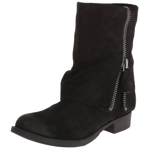 Nine West Womens Thomasina Leather Round Toe Ankle Fashion Boots