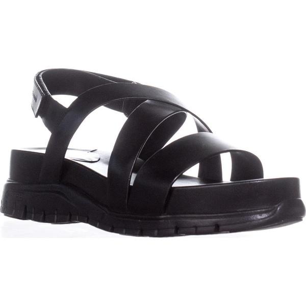 Cole Haan Zerogrand Criss Cross Gladiator Sandals, Black/Black
