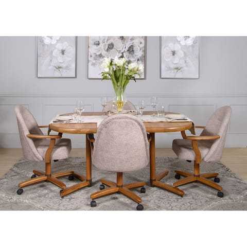 Casual Dining Brown 5 piece Expandable Table and Chairs Set