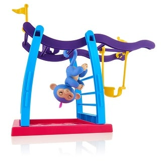 WowWee Fingerlings Monkey Bar Playground Play Set with Liv - multi