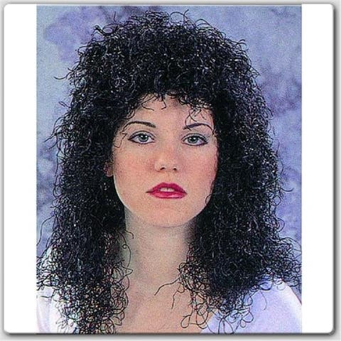 RG Costumes 60015 Curly Black Wig - Size Adult