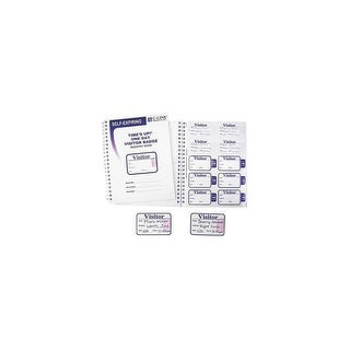 C Line Products Inc Time's Up Self-Expiring Visitor Badges 97009 Visitor Badge