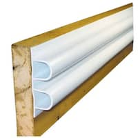 """Dock Edge Double """"D"""" Air Cushion 5-8 Sections White' - 1002-F"""