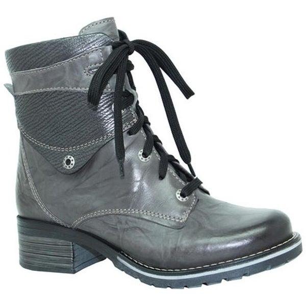 6686b4d51f5b29 Shop Dromedaris Women s Kara Metallic Boot Slate Leather - Free Shipping  Today - Overstock - 10536359