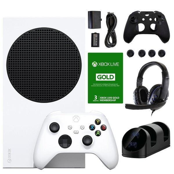 Xbox Series S All-Digital Console w/ Accessories & 3 Month Live Voucher - White. Opens flyout.