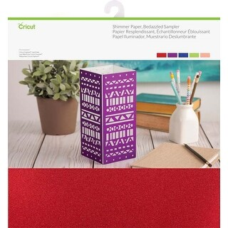 "Bedazzled-Assorted - Cricut Shimmer Paper Sampler 12""X12"""