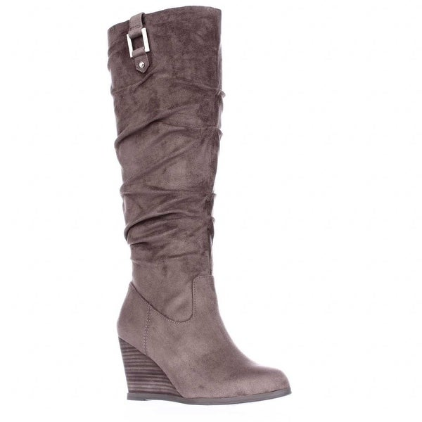 Dr. Scholl's Poe Wedge Slouch Boots, Stucco