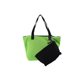 Ideology Green Black Perforated Tote With Pouch OS