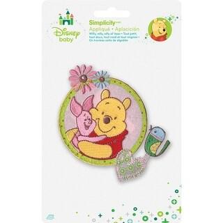 Disney Winnie The Pooh Iron-On Applique-Piglet & Pooh