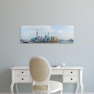 Easy Art Prints Panoramic Images's 'Buildings at the waterfront, Pudong, Huangpu River, Shanghai, China' Canvas Art
