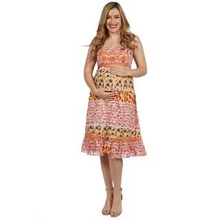 24seven Comfort Apparel Kaele Maternity Dress