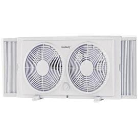 """Homebasix F-5280A Twin Window Fan, 7"""""""
