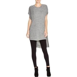 Pure DKNY Womens Tunic Sweater Alpaca Blend Hi-Low