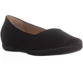 BareTraps Jesse Peep Toe Flats, Black