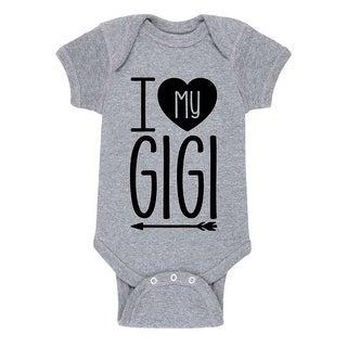 I Heart My Gigi Grandparent Shirts - Infant One Piece