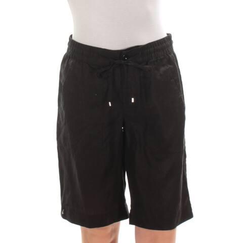 RALPH LAUREN Womens Black Bermuda Short Size: 0