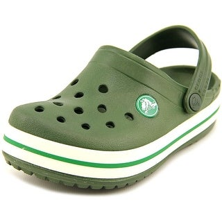 Crocs Crocband Kids Toddler Round Toe Synthetic Green Clogs