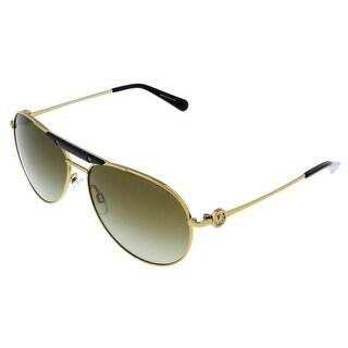 Michael Kors MK5001 ZANZIBAR 100413 Gold/Black Aviator Sunglasses