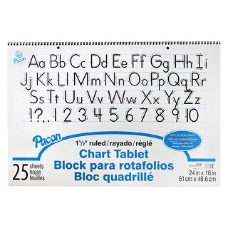 Chart Tablet 1.5In Ruled 25Ct 24X16