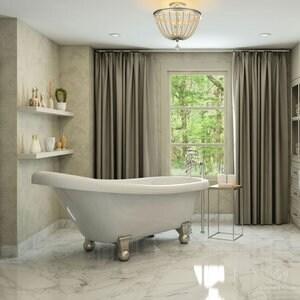 Pelham & White Luxury 60 Inch Clawfoot Slipper Tub with Nickel Cannonball Feet