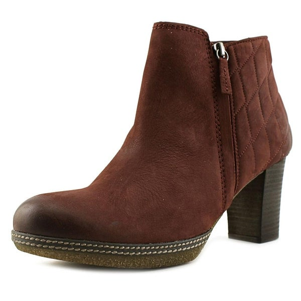 Gabor 92.871 Women W Round Toe Leather Burgundy Ankle Boot