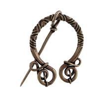 Bronze Finish Viking Clasp Norse Cloak Pin