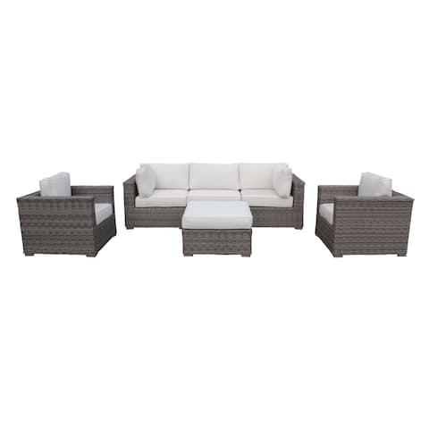 Cozy Corner Patios Garden Furniture  6 Seater Sectional Patio Furniture  6-Piece Outdoor Sectional