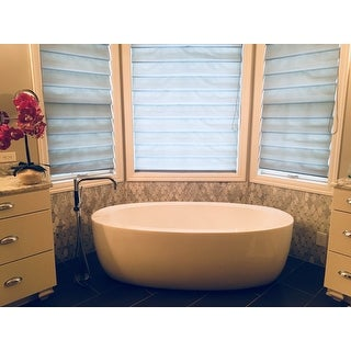 Shop Wyndham Collection Uva Free Standing Soaking Bathtub
