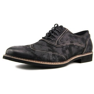 Deer Stags Abbott Men Round Toe Synthetic Black Oxford