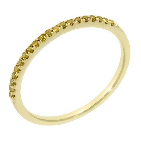 Prism Jewel 0.15Ct Yellow Diamond Anniversary Band
