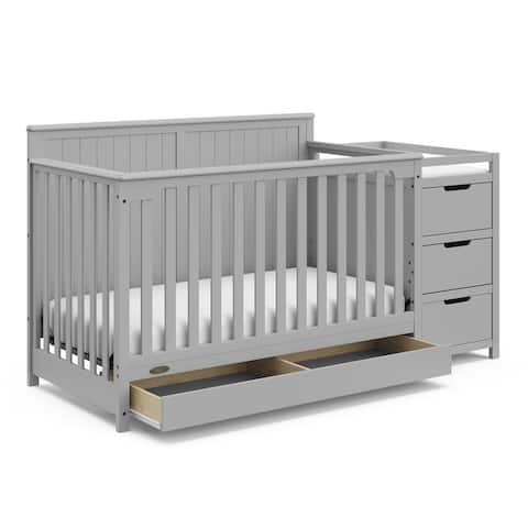 Graco Hadley 4-in-1 Convertible Crib and Changer with Drawer