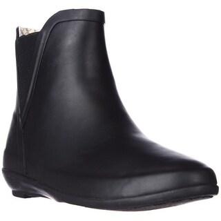 Chooka V-Gore Wedge Rain Booties, Black