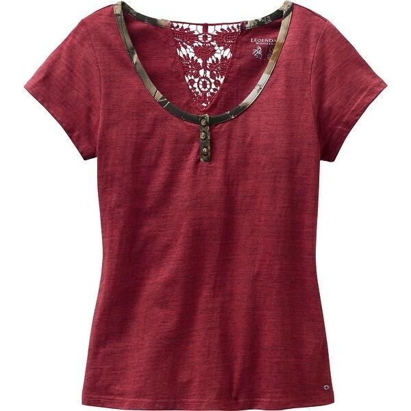 Legendary Whitetails Ladies Red Rock Short Sleeve Henley