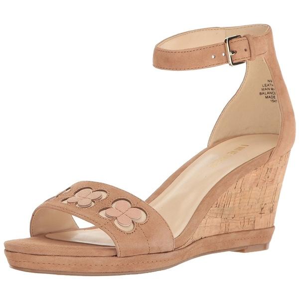 Nine West Womens julian Suede Open Toe Casual Platform Sandals