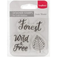 "Scrapberry's Forest Friends Clear Stamps 2.7""X2.7""-Forest"