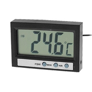 Unique Bargains In and Out Dual-way LCD Play Multifunction Thermometer