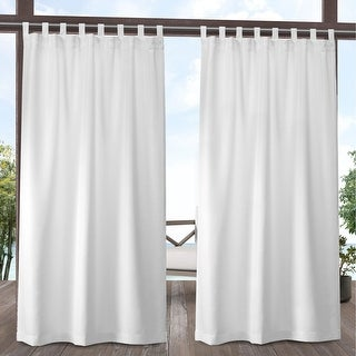 Link to ATI Home Indoor/Outdoor Solid Cabana Tab Top Window Curtain Panel Pair Similar Items in Outdoor Decor