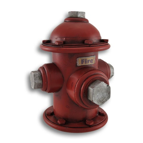 Vintage Look Metal Fire Hydrant Coin Bank Money