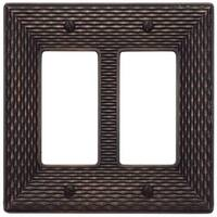 Atlas Homewares MANPDR Mandalay Double Rocker Switch Plate - Venetian Bronze - N/A