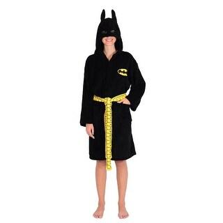 DC Comics Batgirl Women's Hooded Bathrobe - Black