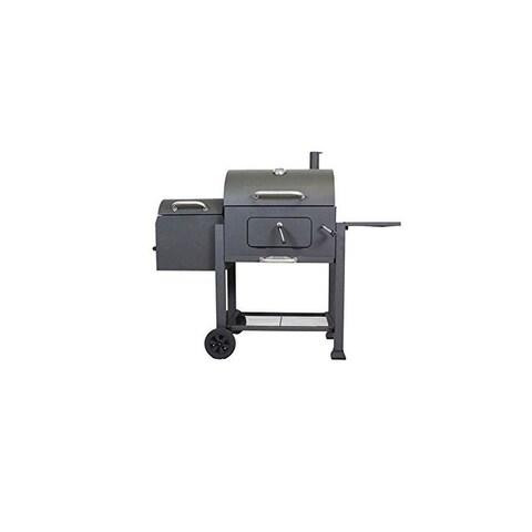 Landmann 560202 Vista Barbecue Grill With Offset Smoker Box, Black