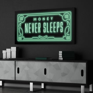 IKONICK Money Never Sleeps Canvas Art