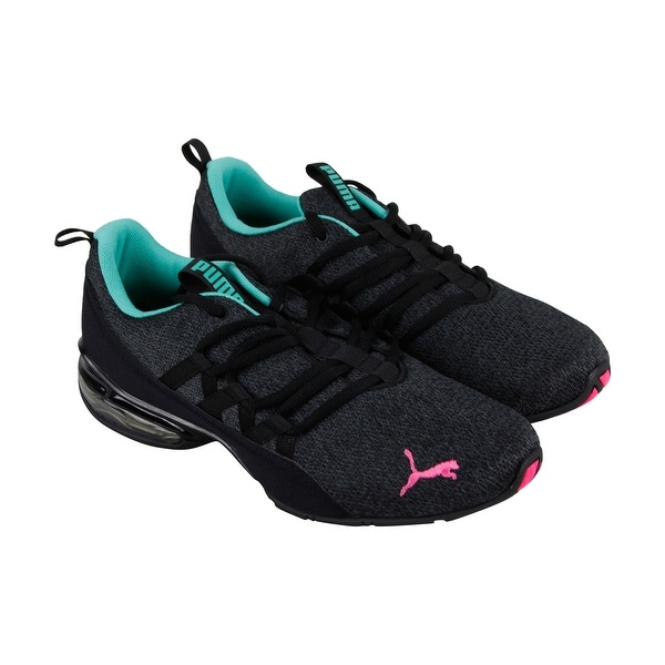 Shop Puma Riaze Prowl Womens Black Textile Athletic Lace Up Running ... d8fc1c024