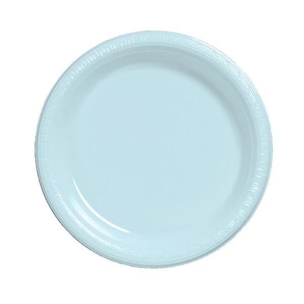 Club Pack of 240 Pastel Baby Blue Premium Disposable Plastic Party Dessert \u0026&; Lunch Plates  sc 1 st  Overstock & Club Pack of 240 Pastel Baby Blue Premium Disposable Plastic Party ...